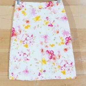 Flower Print Typhany Mid Skirt S